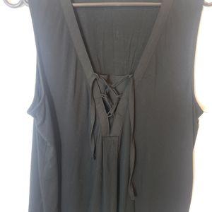 Reitmans laced chest detail sleeveless blouse XL